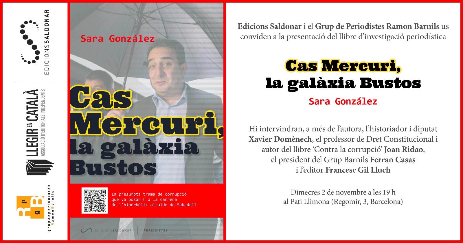 Presentació del llibre : Cas Mercuri, la galàxia Bustos @ Pati Llimona