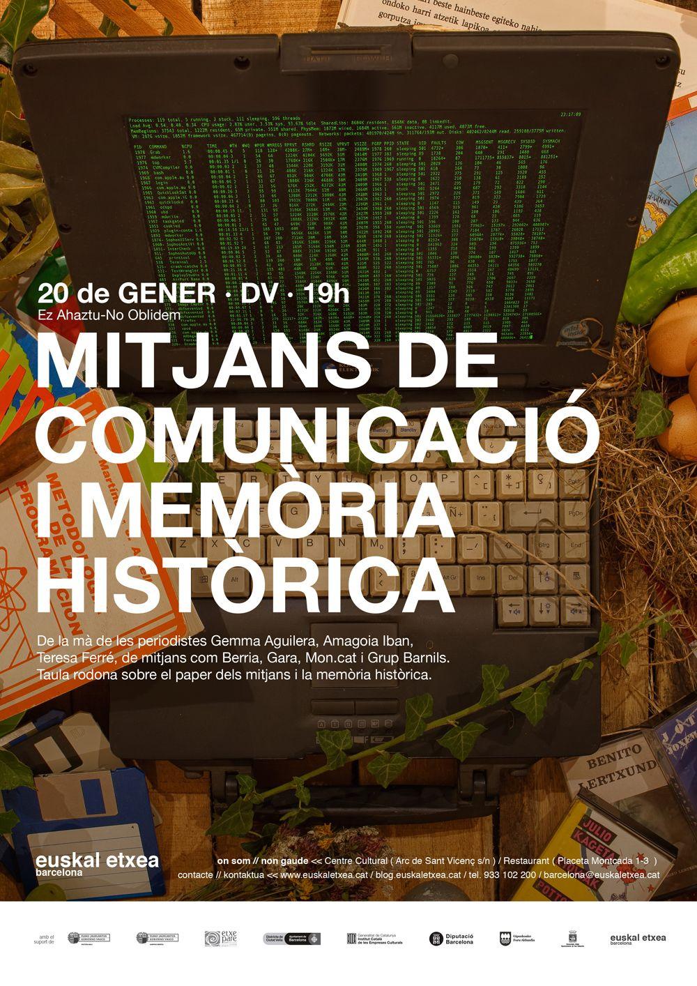 Mitjans de comunicació i memòria històrica @ Euskal Etxea Barcelona