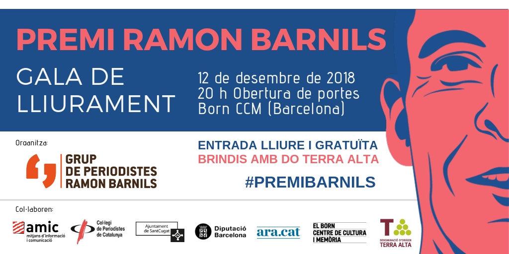 Gala de lliurament del Premi Barnils 2018