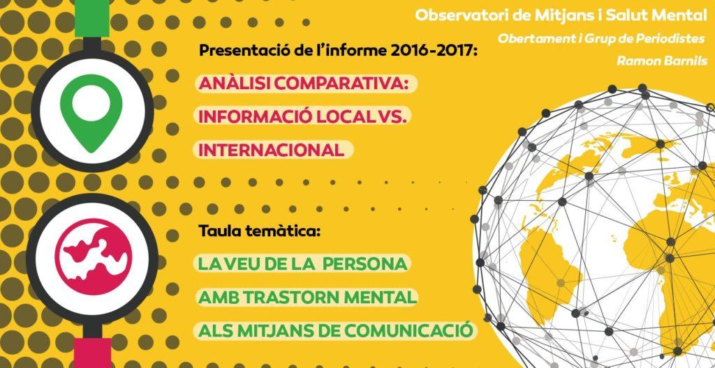 Presentació de l'informe del tractament mediàtic de la salut mental @ Palau Macaya